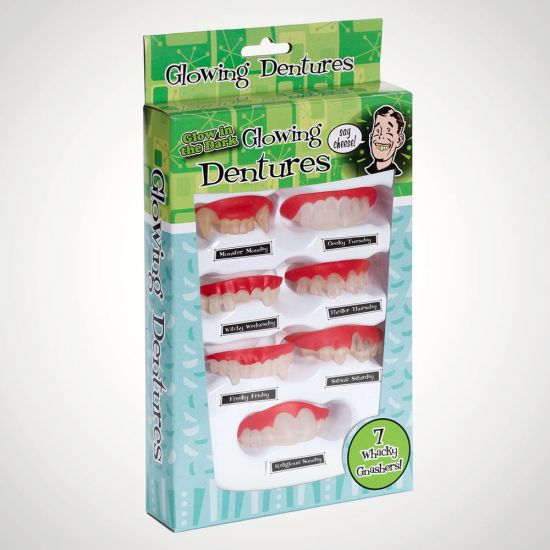 Daily Dentures Funny Teeth Set-Grey Background