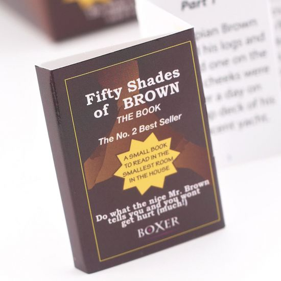 50 Shades of Brown Book and Toilet Paper-Lifestyle