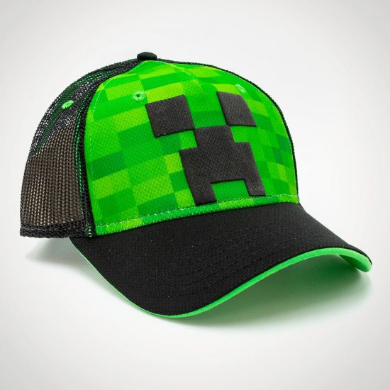 Minecraft Snapback Cap - Grey Background