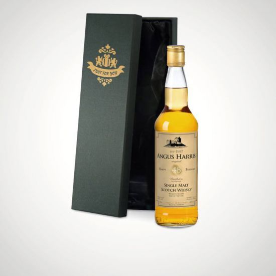 Personalised Birthday Single Malt Whisky in a Silk Lined Box-Grey Background