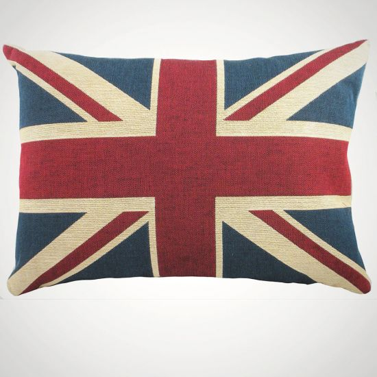 Union Jack Cushion-GREY BACKGROUND