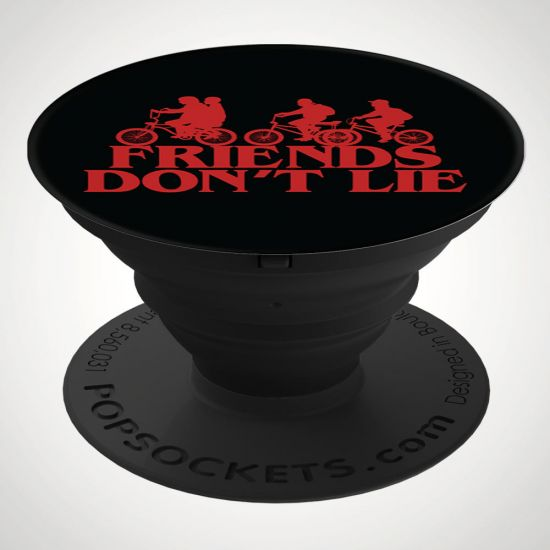 Stranger Things Friends Don't Lie Popsocket - Grey Background