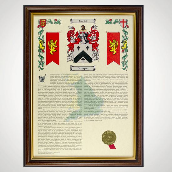 Coat of Arms and Surname History Print