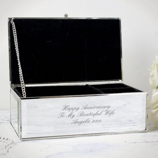 Personalised Mirrored Jewellery Box - Lifestyle