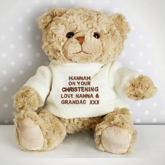 Personalised Teddy Bear - Cream Jumper - Lifestyle