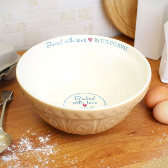 Personalised Mixing Bowl | Baked with Love - Lifestyle