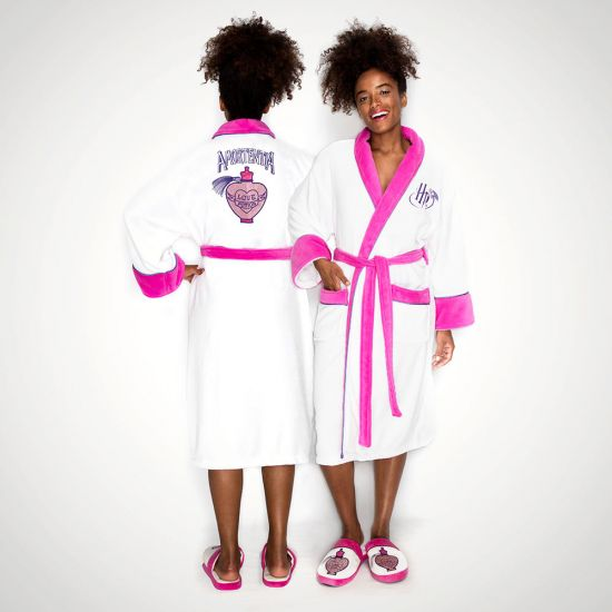 Love Potion Harry Potter White Pink Ladies Robe - grey background