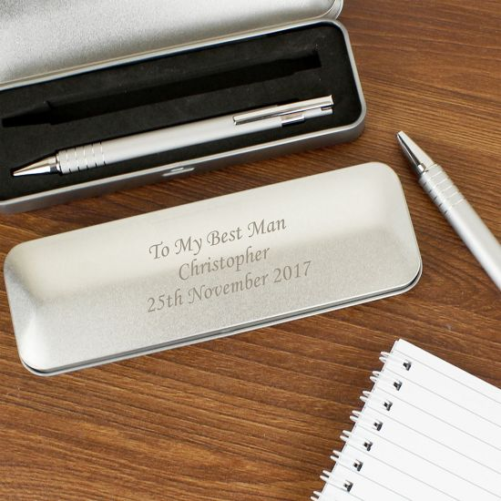Personalised Pen Set With Engraved Box - Lifestyle