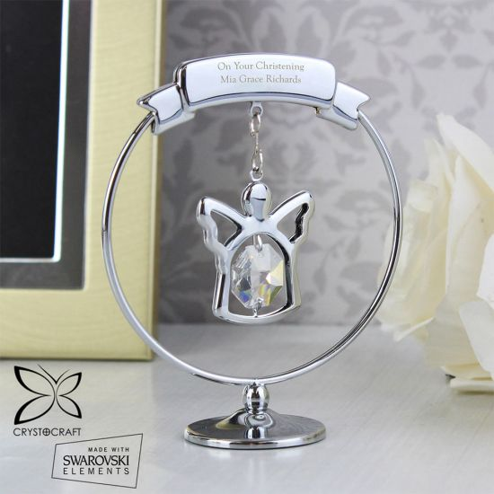 Personalised Crystal Angel Ornament - Lifestyle