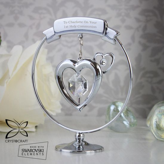 Personalised Crystal Heart Ornament - Lifestyle