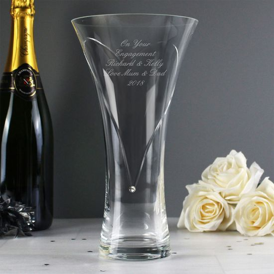Personalised Golden Wedding Anniversary Vase - lifestyle