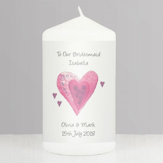 Personalised Hearts Candle - Lifestyle