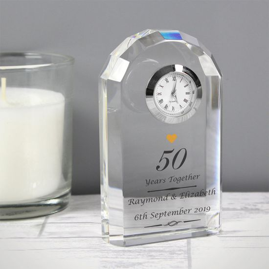 Personalised Golden Anniversary Clock - Lifestyle
