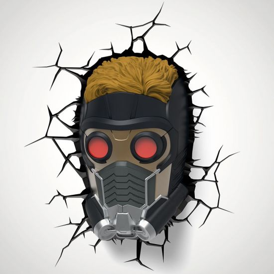 Marvel Star-Lord Mask 3D Deco Light - Grey Background