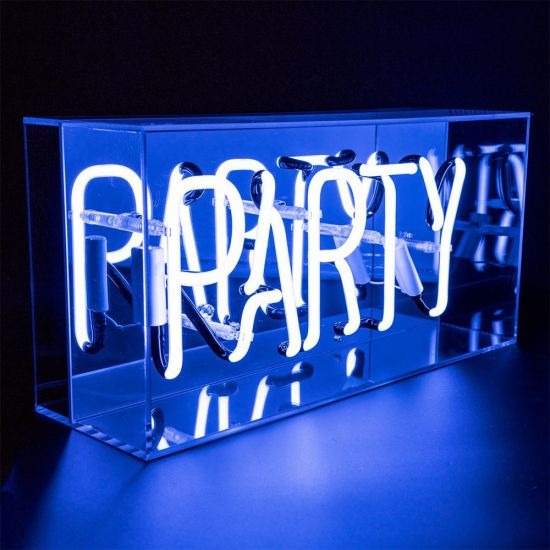 Acrylic Box Neon Party Blue - Lifestyle