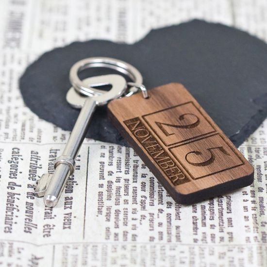 Custom Special Date Keyring-Lifestyle
