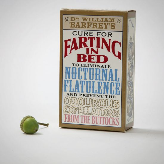 Cure for Farting in Bed - Grey Background