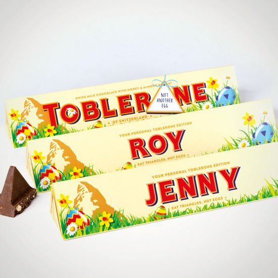 Personalised Toblerone Easter Edition - Grey Background