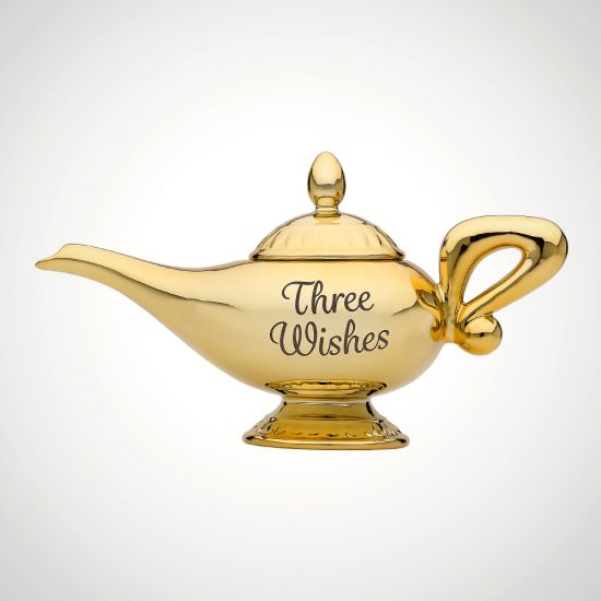 Aladdin Lamp Tea Pot - grey background