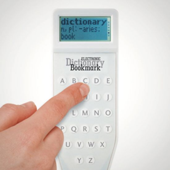 Electronic Dictionary Bookmark - Grey Background