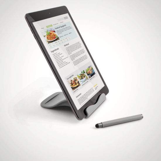 The Handy Tablet Stand Grey - Grey Background