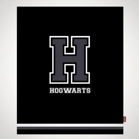 Harry Potter H for Hogwarts Throw - Grey Background