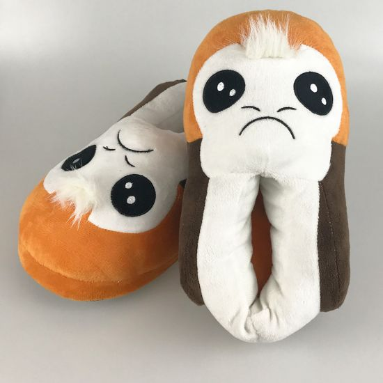 Star Wars Porg 3D Slippers-Grey Background