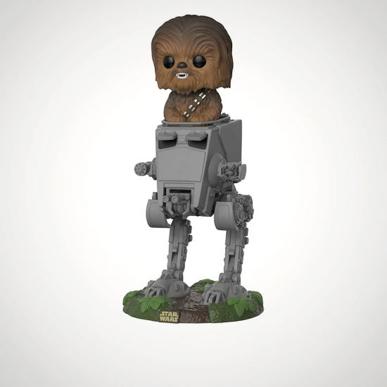 Pop! Vinyl Chewbacca With AT-ST - Grey Background