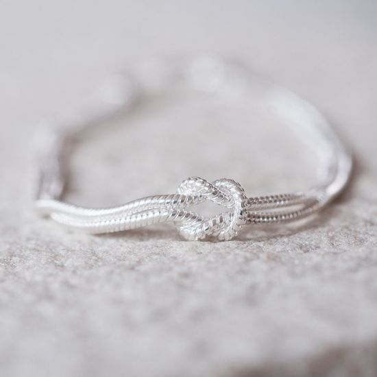 Silver Tie the Knot Bracelet - Lifestyle