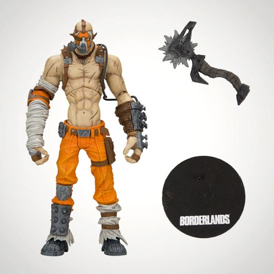 "Borderlands 2 Krieg 7"" Action Figure - Grey Background"