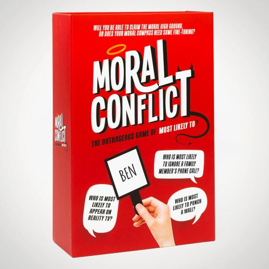 Moral Conflict - grey background