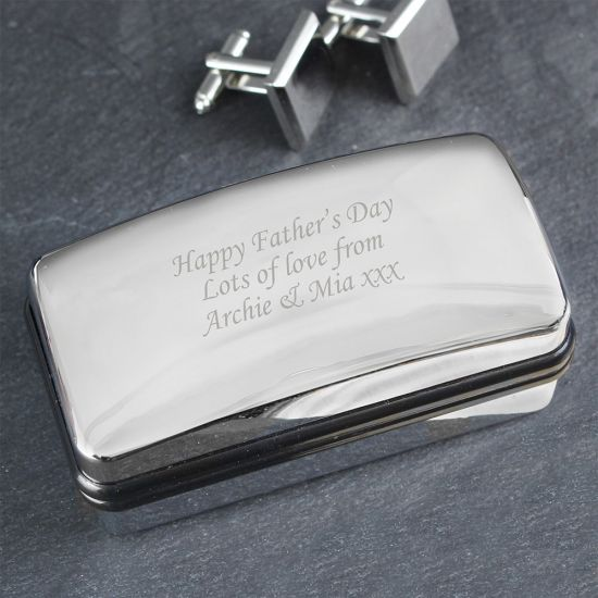 Personalised Silver Cufflink Box - Lifestyle
