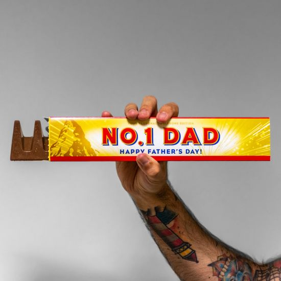 Personalised Father's Day Toblerone - Grey Background