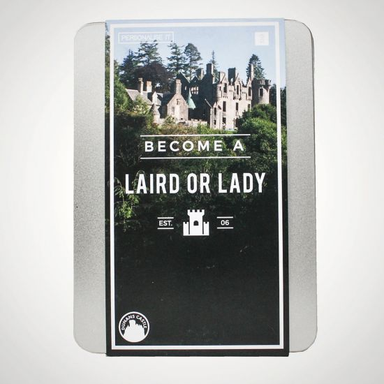 Become a Laird or Lady - Grey Background