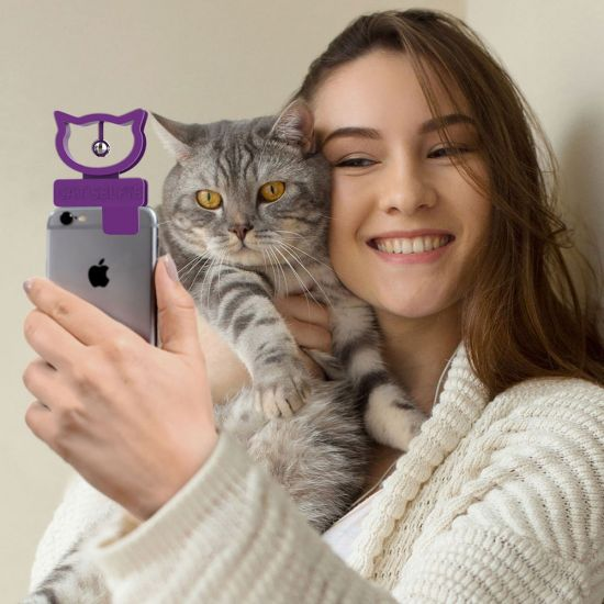 Clip-on Cat Selfie Accessory - Lifestyle