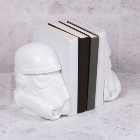 Star Wars Stormtrooper Bookends - lifestyle