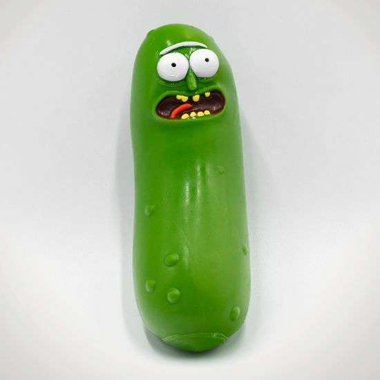Pickle Rick Stress Toy - Grey Background