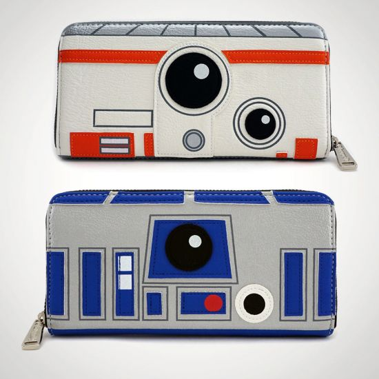 Star Wars R2-D2 & BB-8 Double Sided Purse - grey background