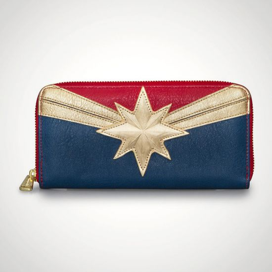 Captain Marvel Logo Purse - Grey Background