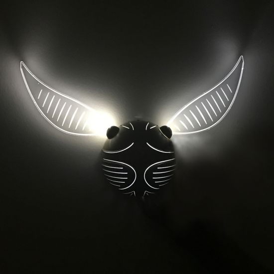 Golden Snitch Harry Potter Wall Light - lifestyle