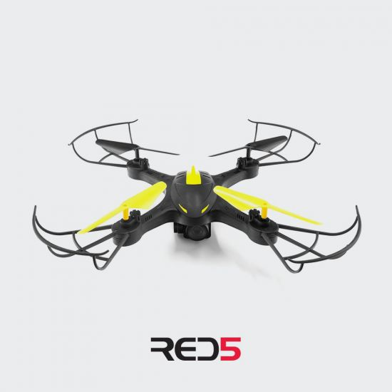 RED5 RC Camera Drone Yellow - Grey background