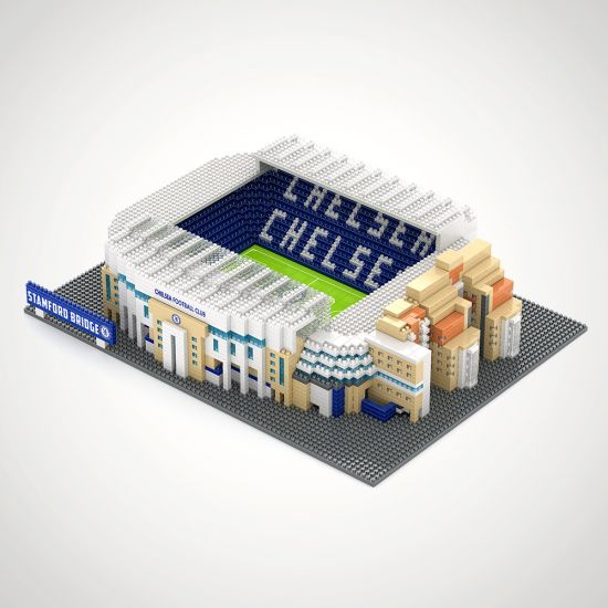 Chelsea FC Football Stadium 3D Construction Kit - grey background