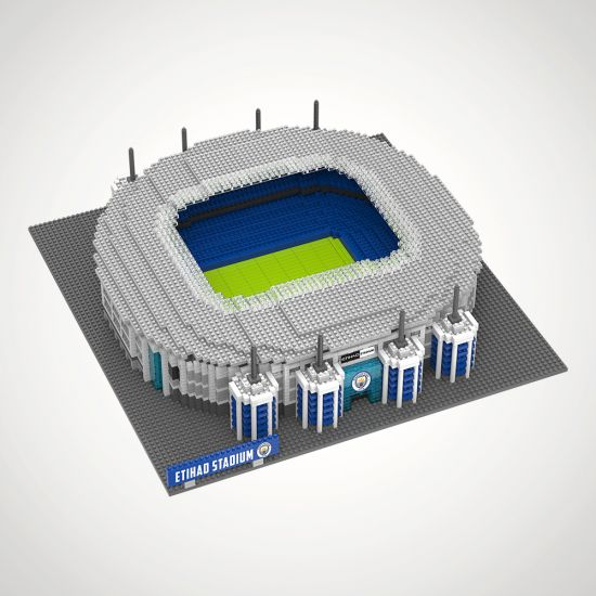 Manchester City FC Football Stadium 3D Construction Kit - GREY BACKGROUND