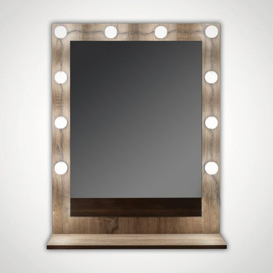 Hollywood Mirror Bulb Lights - Grey Background