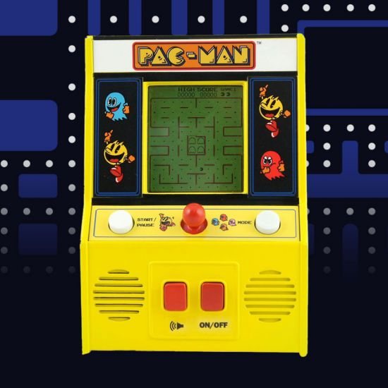 Pac-Man Mini Arcade Game (B/W Screen) pac man background