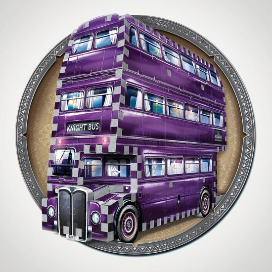 Harry Potter The Knight Bus 3D Puzzle - Grey Background