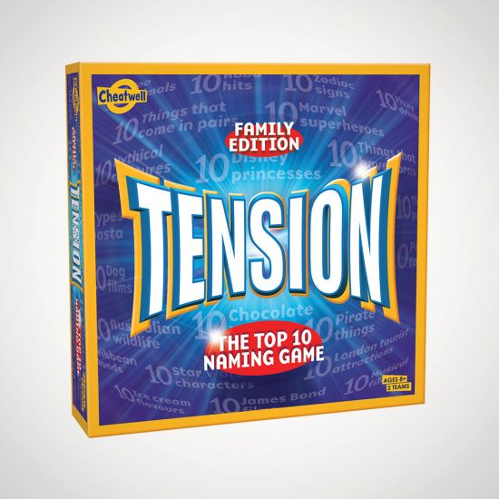 Tension: The Top 10 Naming Game - grey background