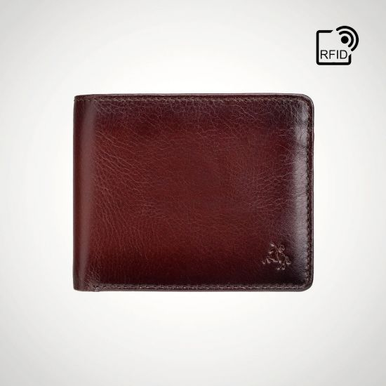 Visconti Ateliar Arthur RFID Coin Wallet - grey background