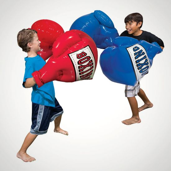 Inflatable Boxing Gloves – 1 Pair - Grey Background