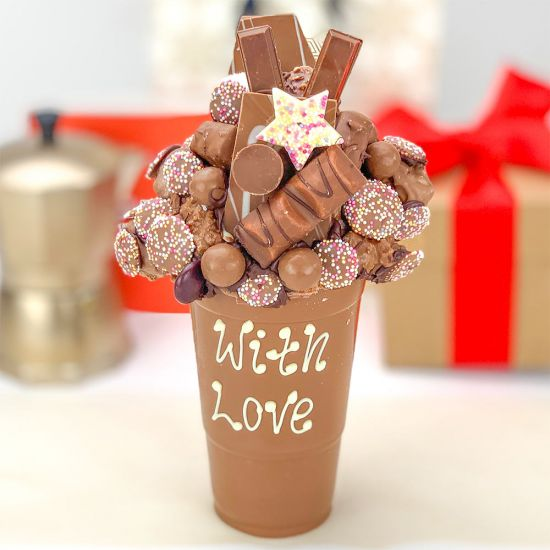 Personalised Milk Chocolate Smash Cup - Lifestyle
